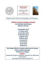 Reprise des Divines Liturgies en français
